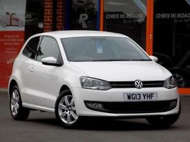 VOLKSWAGEN POLO 1.2 MATCH EDITION 3dr ** Only 2 Owners + 44000 miles ** (white) 2013