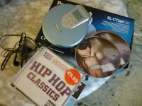 quality portable panasonic mini discman,cd player(slct580)with 16 english songs cds,stanmore,middx..