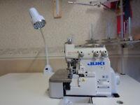 JUKI MO-6704S Industrial 3-Thread Rolled Hem Overlocker Sewing Machine
