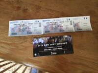 Two Amazing seats at one day cricket tickets England v West Indies BRISTOL 24th September 2017