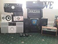 Joblot stereo , speakers , radio