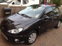 Peugeot 206, 2007 Model, 47k Miles only, 1.4,Black,Full service History