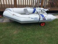 Seabo Inflatable boat, RIB, Mariner Engine & Launch Trailer