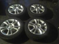 """set of 4 vauxhall corsa 16"""" 4 stud alloy wheels with tyres"""