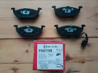 Apec front brake pads VW Golf Beetle Bora Caddy Jetta Polo Front Brake Pads Set 98-Onwards
