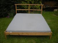 Bed Double 5ft / 150cm IKEA Dalselv bed slats mattress