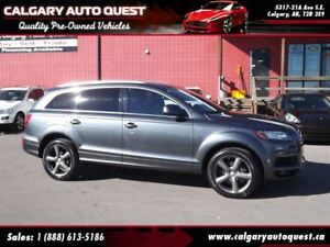 2015 Audi Q7 3.0T Technik S-line AWD/NAVI/B.CAM/3RD ROW/LEATHER