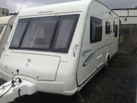 Compass Corona Club 505 5berth family caravan c/w motor mover