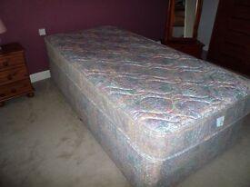 Divan single bed and matress