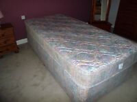 Divan single bed and matress