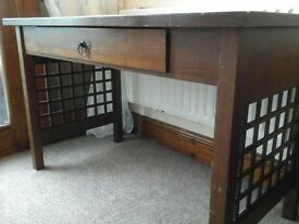 Art Deco Style Teak Console /Writing Desk. From Pierre's of Manchester