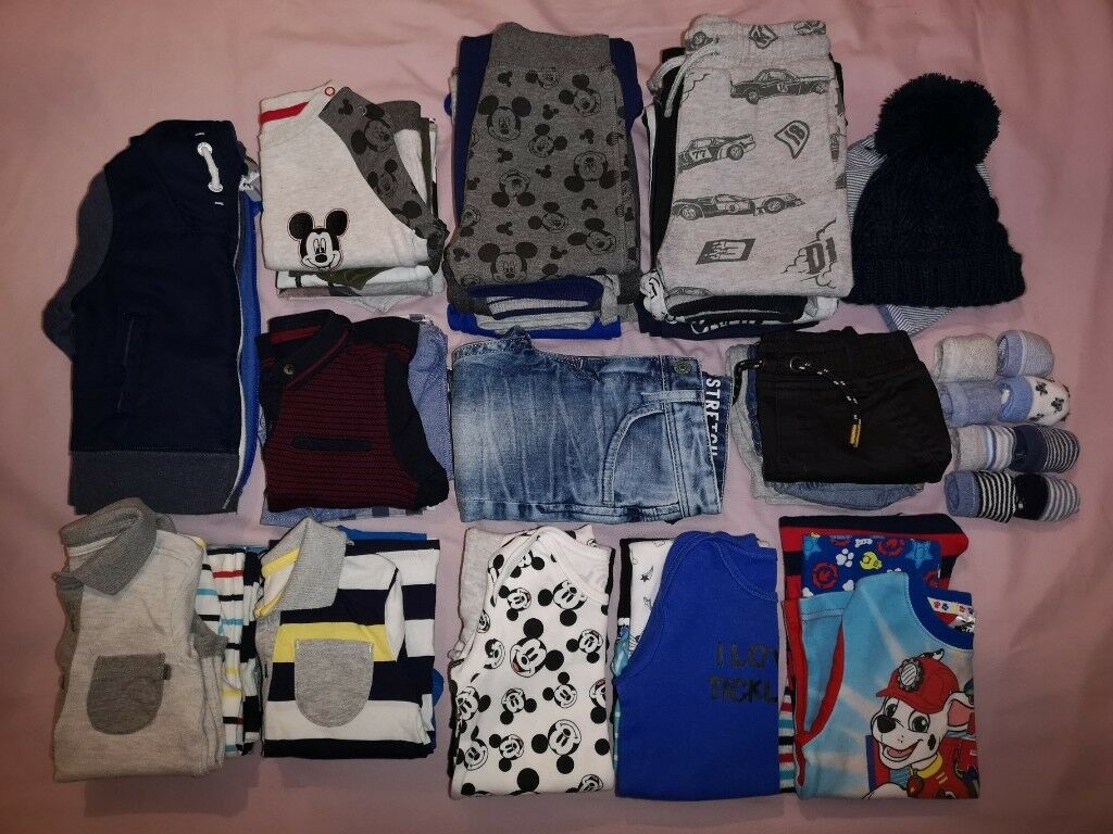 9684c3aa7d23 Baby boy s clothes bundle 40+ items 6-9 9-12 months job lot age 1