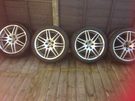 Alloy wheels and new tyres