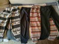 4 pairs of warm leggings 122-128cm