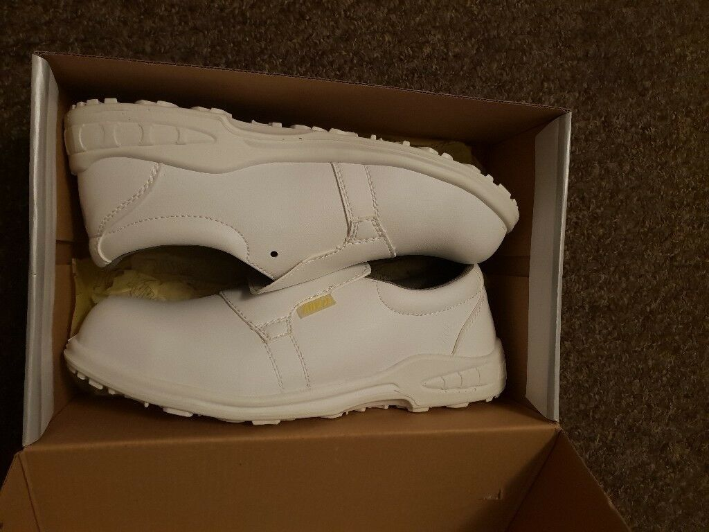 Anvil white safety shoes uk size 10