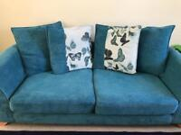 DFS 4 SEATER SOFA AND ARMCHAIR