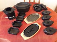 13 piece cast iron casserole dishes