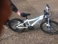 Girls Aluminium Cycle 6 speed .(age 5-8 ) with Front Suspension