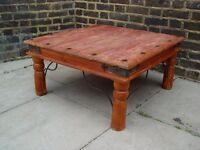 FREE DELIVERY Retro Wooden Indian Coffee Table Vintage Furniture