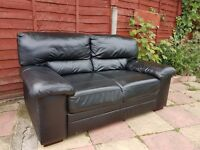 TWO SEAT FULL GRAIN ITALIAN LEATHER SOFA - HOMEBASE - RRP WAS £300
