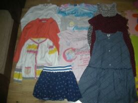 A lovely Bundle of girl clothes x10 items age 6-7 year ( inc Disney, M&S,, Next, John Lewis, H&M )