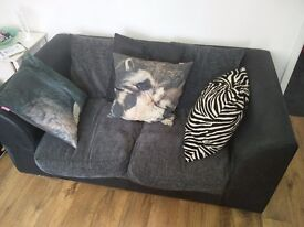 Beautiful grey fabric sofas (2 & 3 seaters) for URGENT SALE