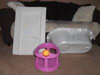 Disney Baby bath tub, Disney changing mat and bath seat