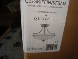 Unused 3 bulb Semi Flush Light Fitment