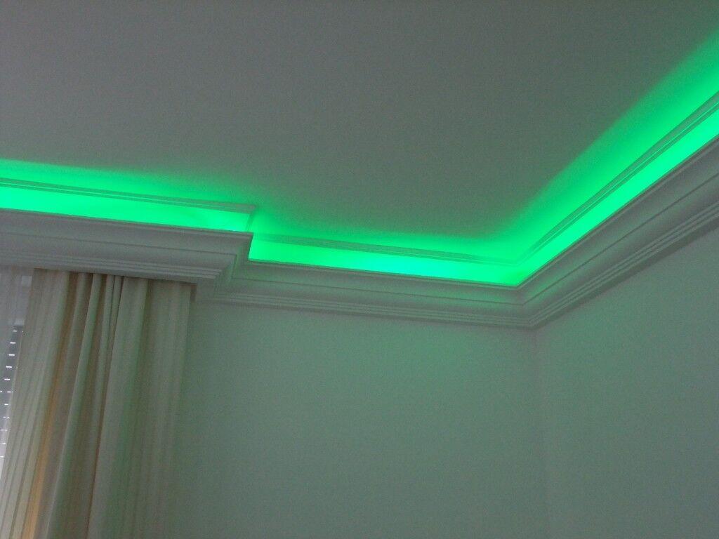 Led Stuckleisten Lichtprofile Indirekte Beleuchtung : LED Indirekte Beleuchtung Lichtprofile Stuckleisten Zierleisten 18