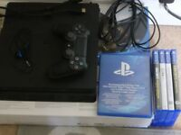 PS4 Slim 500GB FIFA 18 edition mint condition with games