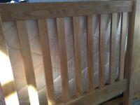 Single bed frame in oak