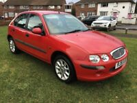 2002 ROVER 25 1.4 WITH ONLY 65,000 genuine MILES,FSH,dual controls fitted,like ford vauxhall seat vw