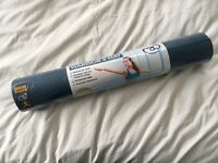 Blue yoga mat 4mm never been used