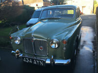 CLASSIC 1960 P4 ROVER 100 TWO-TONE GREEN LOW MILEAGE LOTS SPENT