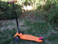 FREE Child's Micro 3 wheel scooter