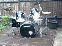 peavey drumkit black international series 2