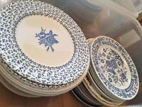 Vintage dinner plates - wedding