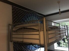 Tall High Sleeper Bed metal excellent condition 6ft