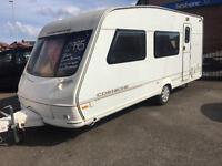 Lovely swift corniche 3 birth caravan