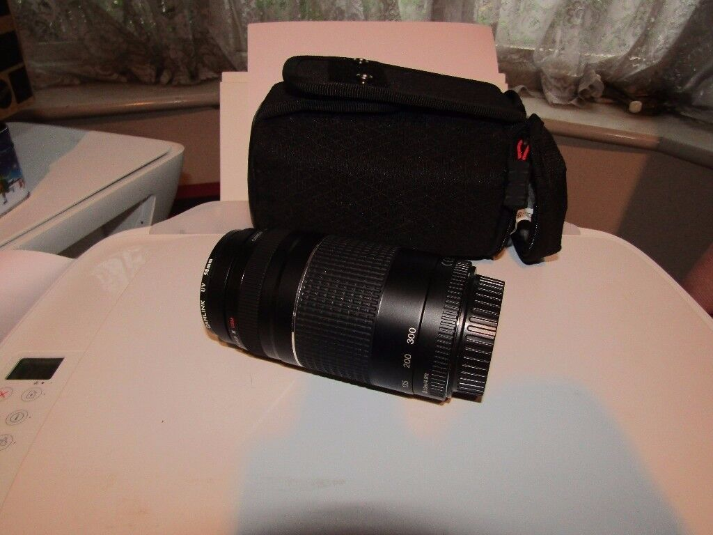CANNON CAMERA LENS 75-300MM WITH CASE COLLECT FROM NORTHAMPTON