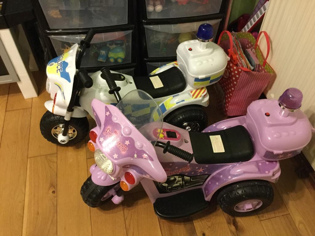Electric cars for young childrenin Ipswich, SuffolkGumtree - For young children 18 months up to about 3 years old. One police one prinsess