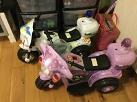 Electric cars for young children.