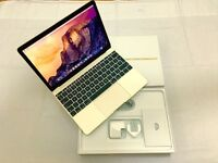 MacBook M Retina Display Gold colour 265GB SSD 8GB Memory fast with apple care warranty latest model