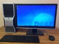 "GAMING PC DELL T3500 - XEON QC, 16GB Ram, GeForce GTX 650, 1TB HDD + 22"" HD Monitor Desktop"