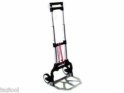 Luggage Cart Hand Dolly Trolley With Wheels Cap 176 Lb Aluminum Folding Travel