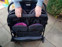 Double stroller exellent condition .