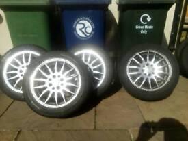 4 alloy wheels 205 50 15
