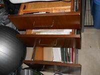 3 Drawer Wooden Filing Credenza