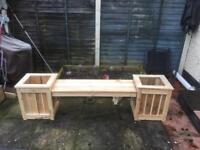 Garden bench planter