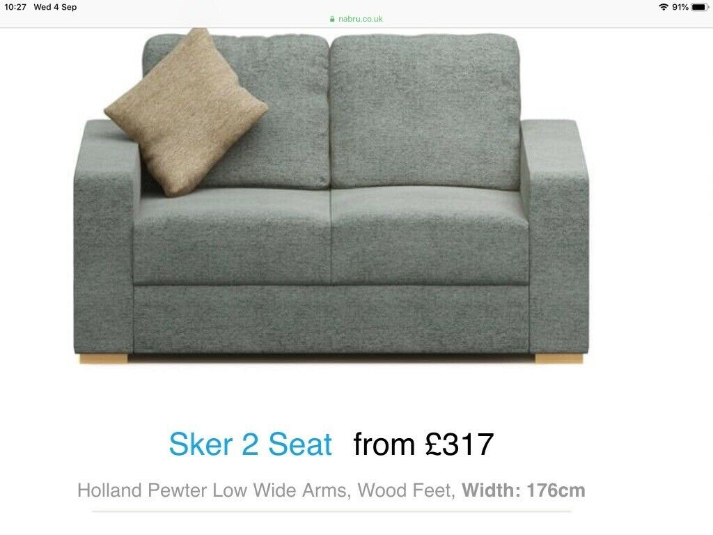 Fantastic Nabru Flatpack Grey 2 Seater Sofa With Storage In Chelmsford Essex Gumtree Machost Co Dining Chair Design Ideas Machostcouk